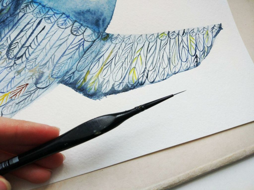 """Рисуем иллюстрацию """"Ласточка"""": пошаговый рисунок акварельной иллюстрации"""