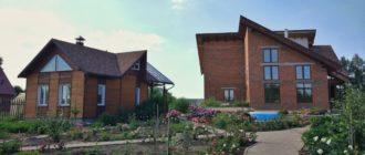 Родительский дом: розовый сад, видовая площадка, двусветное пространство в доме (с высотой 9 метров)