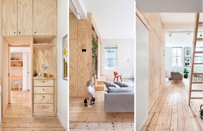 Как с помощью фанеры сделать из студии (26 м2) полноценную квартиру
