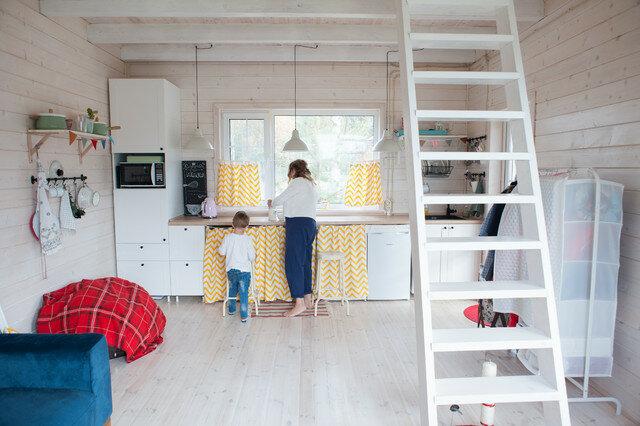 Построить каркасный дом 34 м2 на спор с мужем