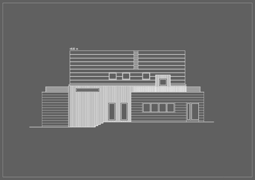 Современный минимализм: фасад из планкена лиственницы